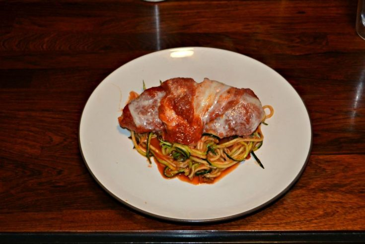 Baked Chicken Parmesan with Zoodles is an easy and healthy weeknight meal.