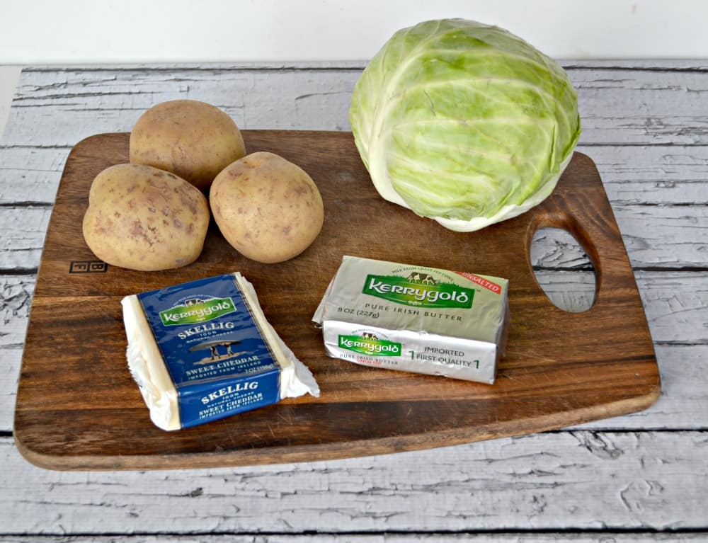Kerrygold butter, cheese, cabbage, and potatoes make a delicious Colcannon