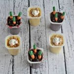"""Easter Pudding Cups with """"Bunny Butts"""" and Chocolate """"Carrots"""""""