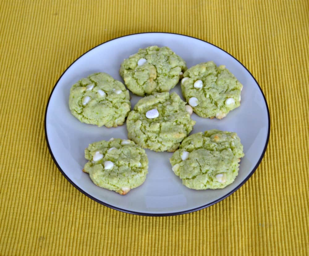 Key Lime Cookies ith White Chocolate Chips