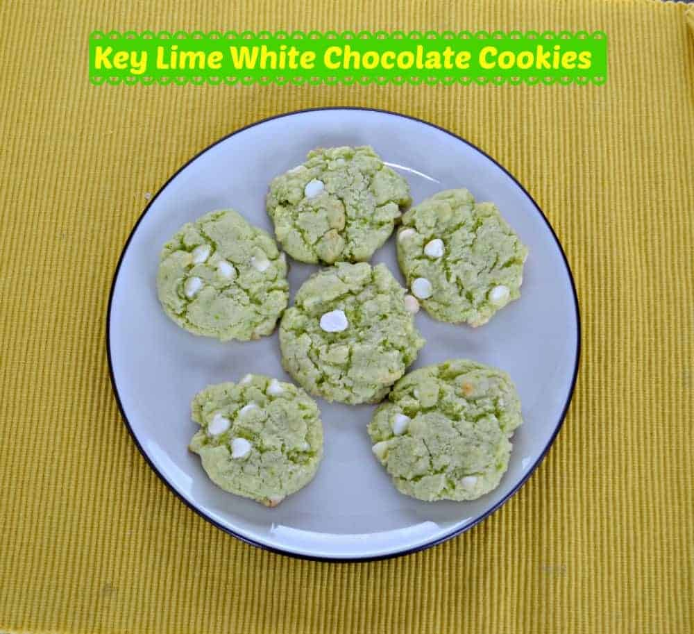 Key Lime White Chocolate Chip Cookies are here to usher in spring