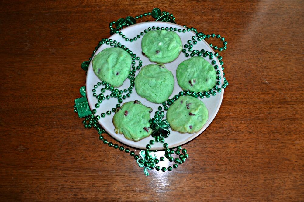 Mint Chocolate Chip Cookies are perfect for St. Patrick's Day