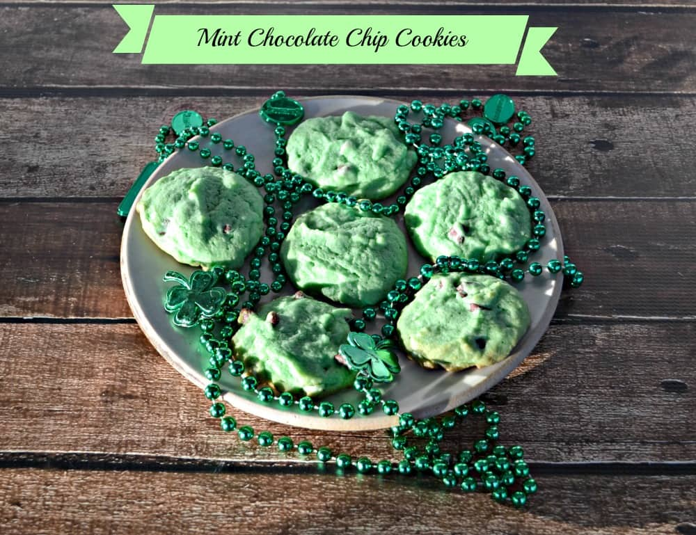 Mint Chocolate Chip Cookies are colorful and fun!