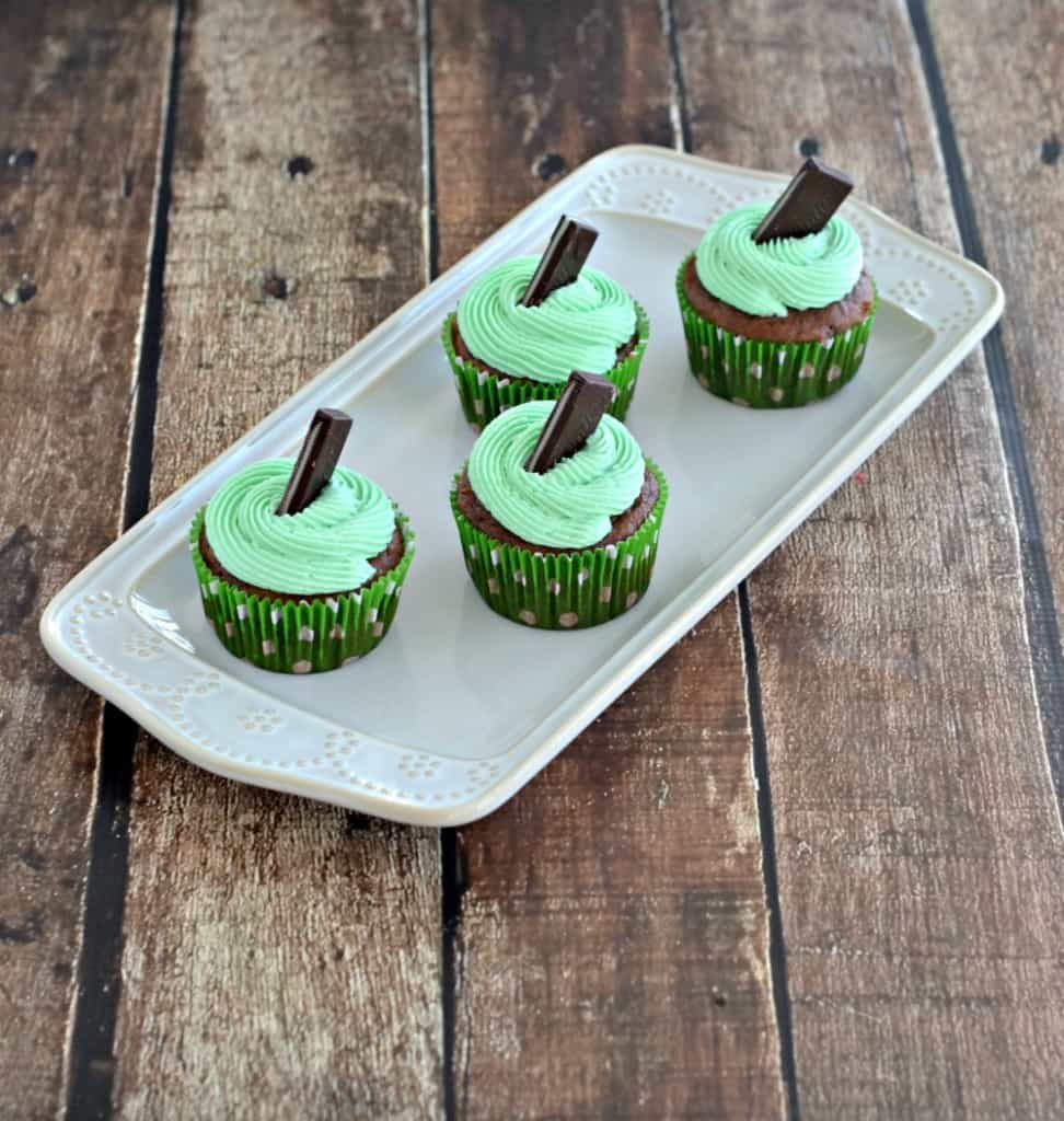 Mint Chocolate Cupcakes are grea tfor St. Patrick's Day