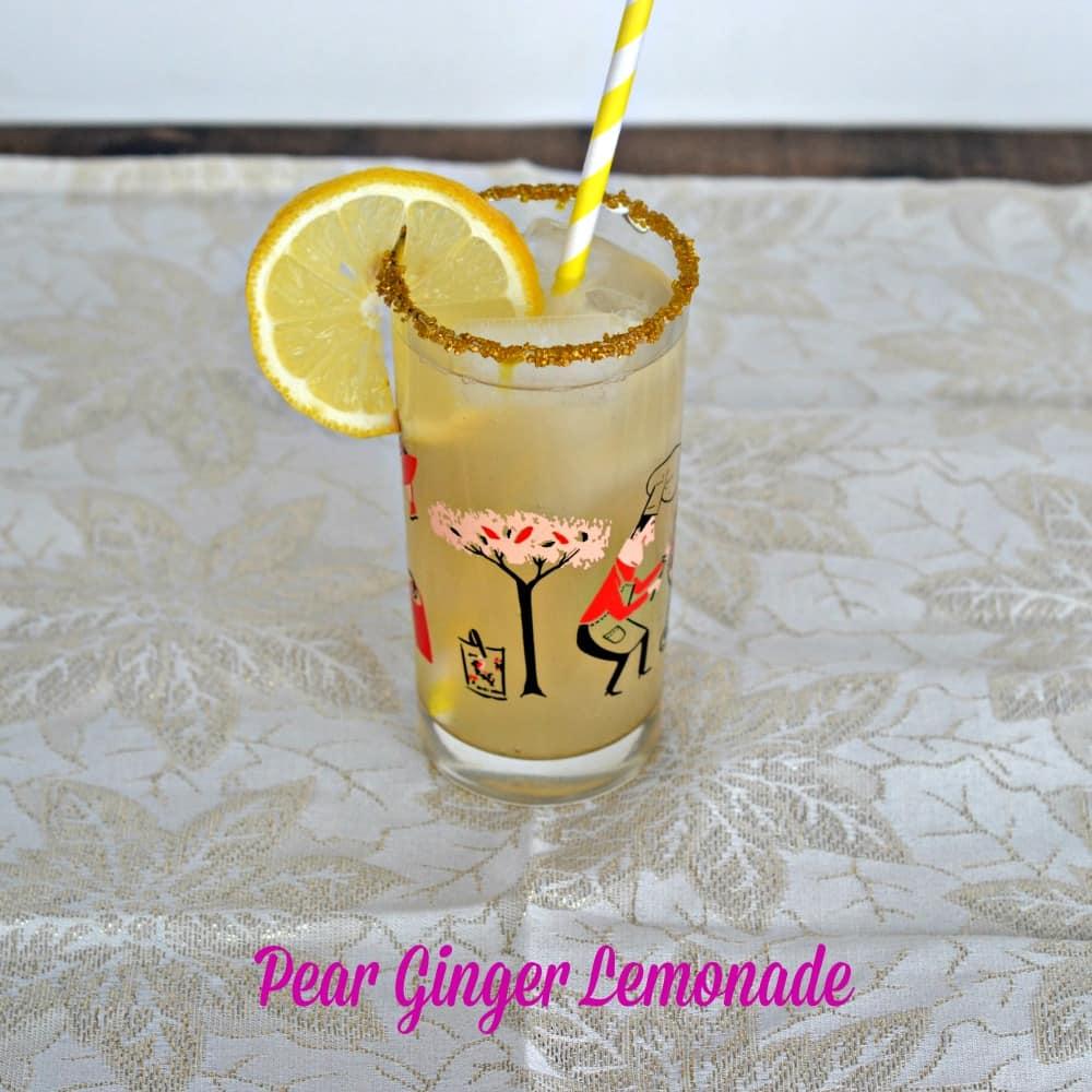 Pear Ginger Lemonade Cocktail