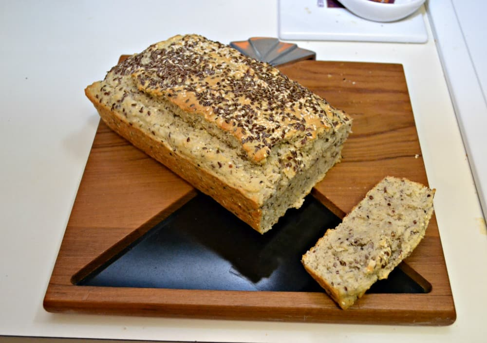 Delicious Seeded Club Soda Bread is made with sesame seeds, flax seeds, and quinoa
