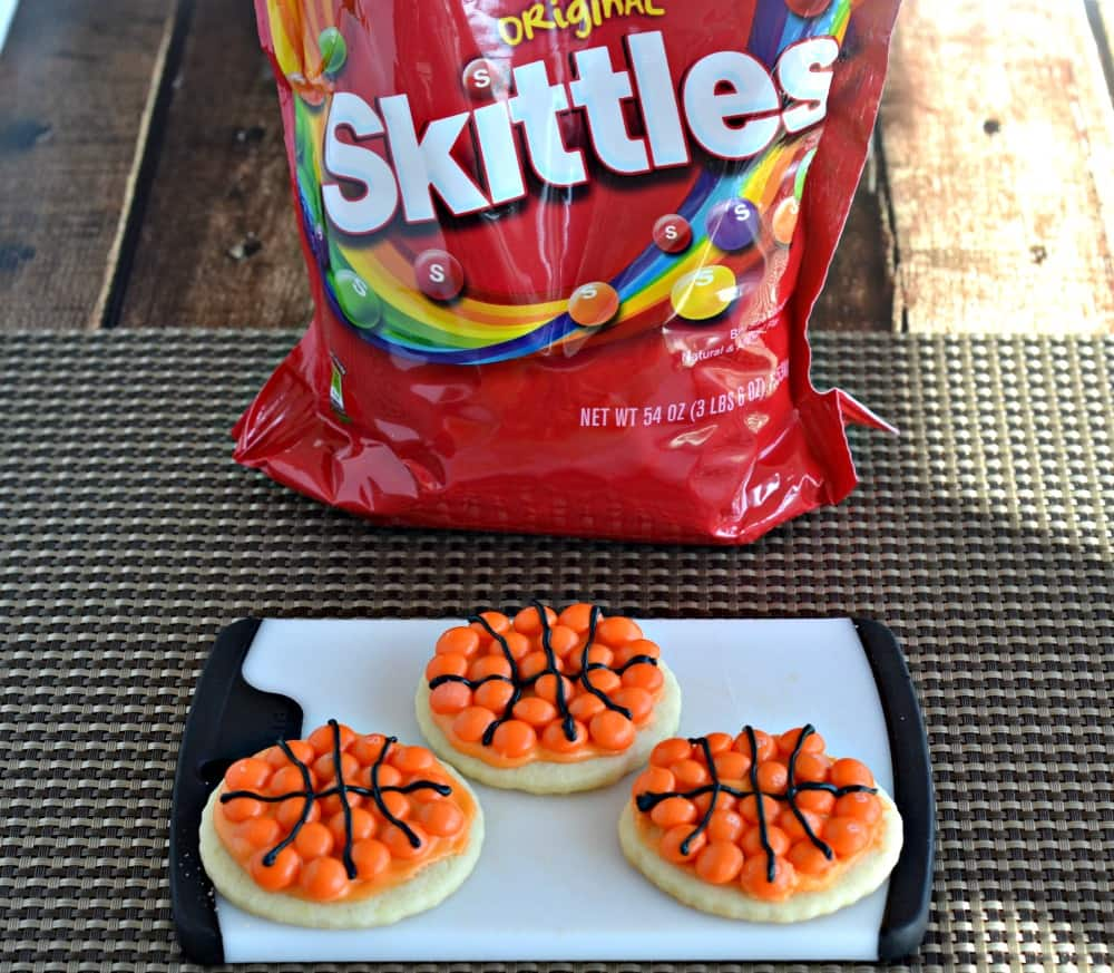 Skittles Basketball cookies are perfect for basketball tourments in March!