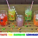 Skittles Basketball Cookies and Taste the Rainbow Lemonade