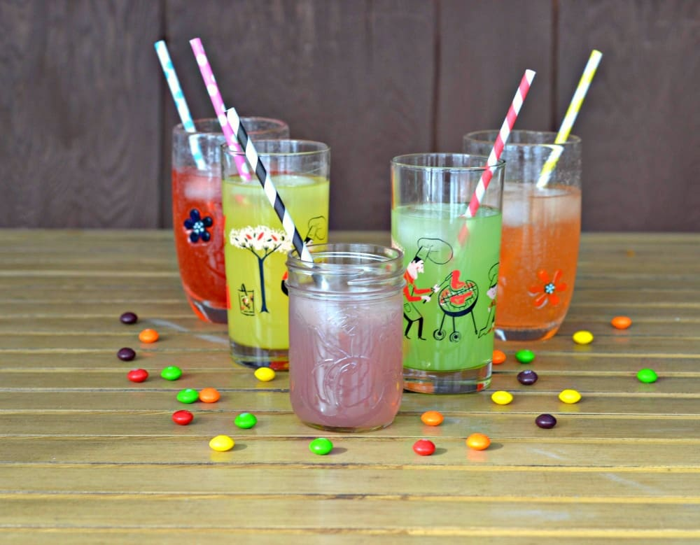 Fun and colorful Skittles Lemonade