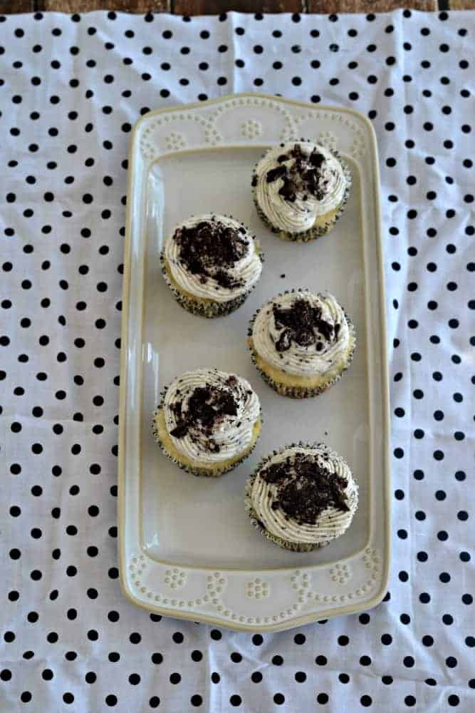 OREO cupcakes with a surprise at the bottom of the cake!