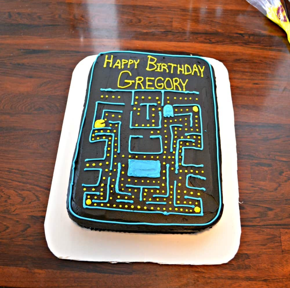 This fun PacMan Cake is perfect for a video game party.