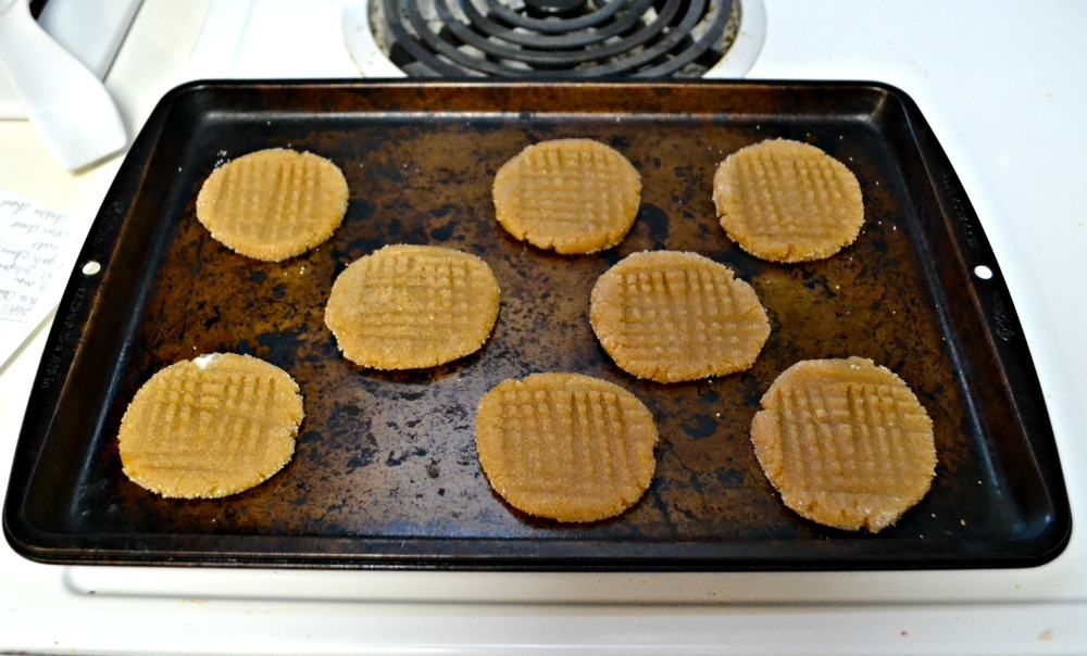 Three Ingredient Peanut Butter Cookies are gluten free and made with Stevia instead of sugar.