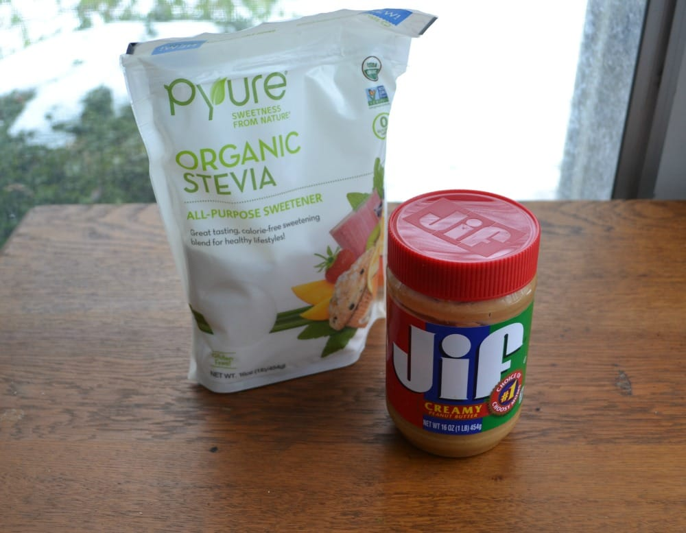 Pyure Stevia Bakeable Sweetener and Jif Peanut Butter make these 3 ingredient cookies gluten free and delicious!