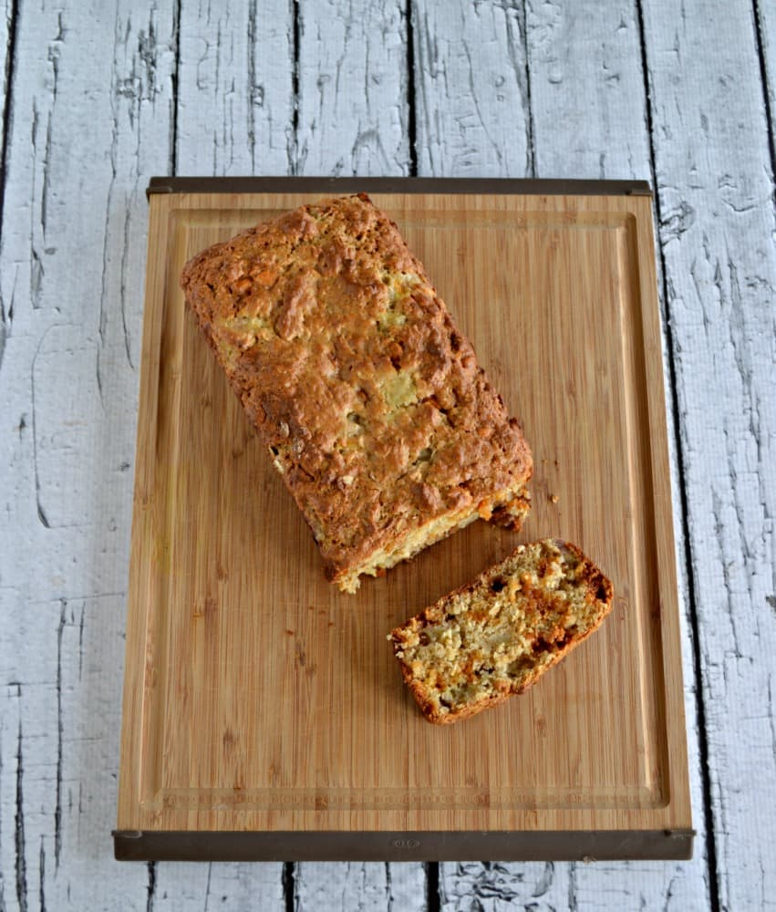 Banana Bread made with Butterscotch chips, brown butter, and oats.
