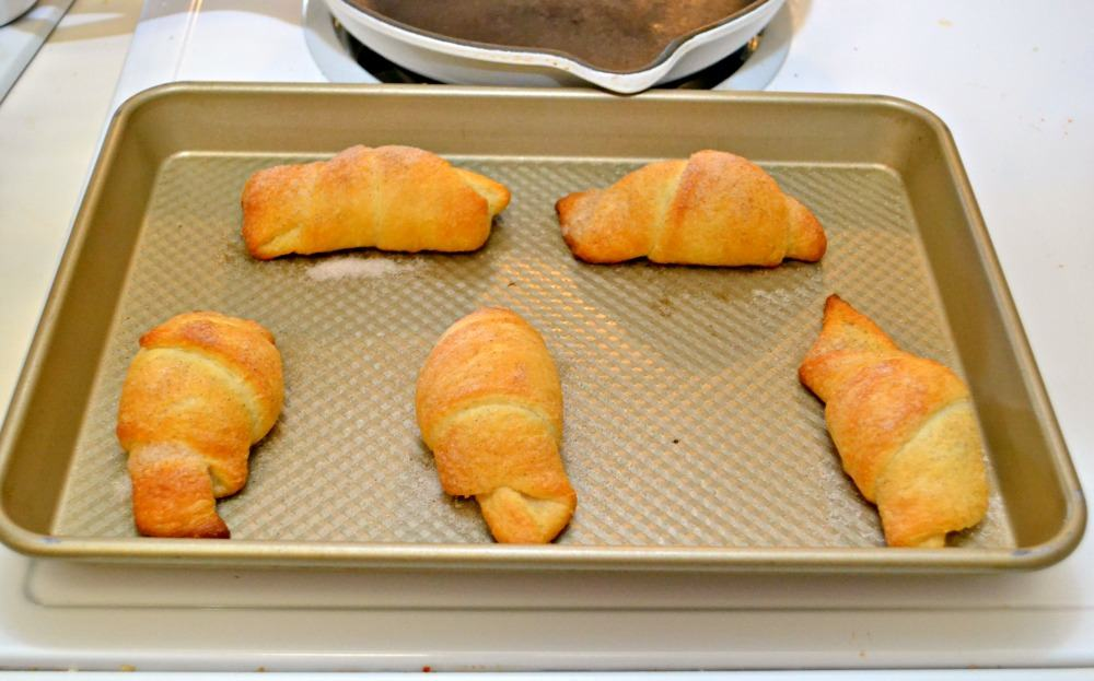 Cadbury Egg Stuffed Croissants are easy to make and so delicious!