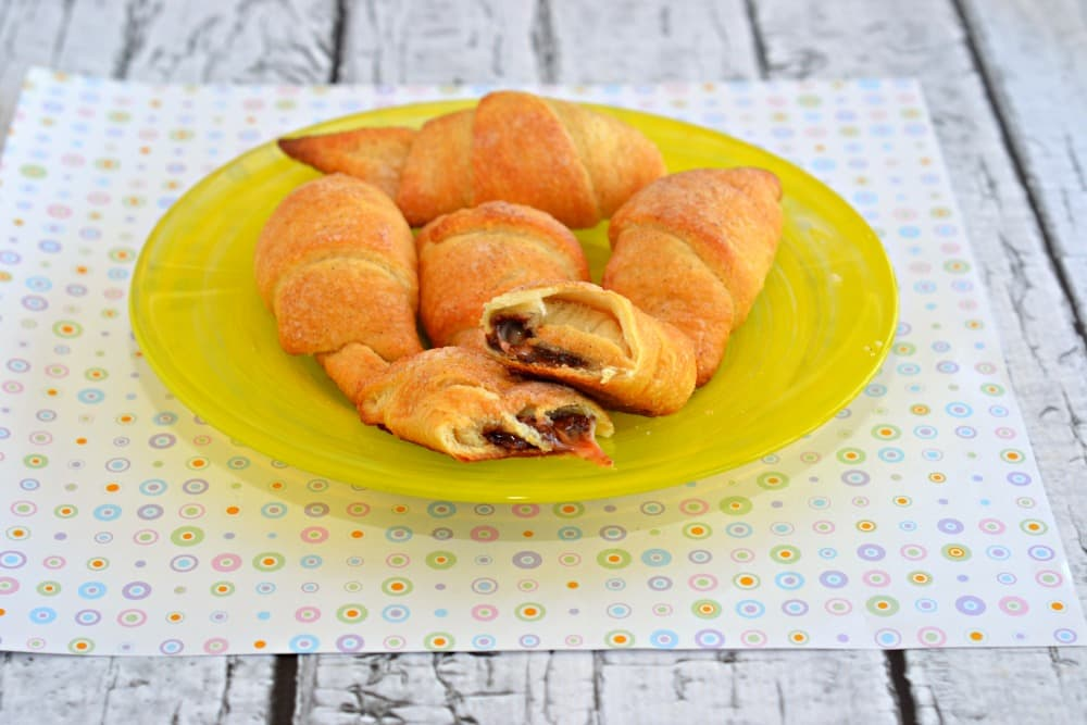 Crispy and buttery croissants stuffed with gooey chocolate Cadbury Creme Eggs