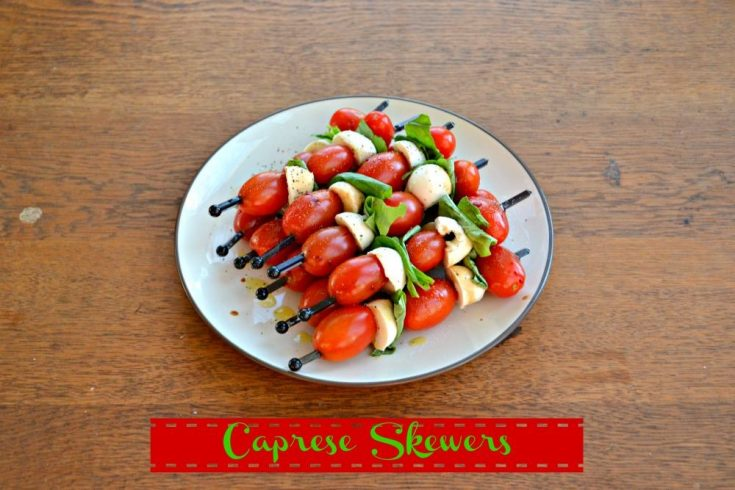 Caprese Skewers are the perfect fresh picnic snack