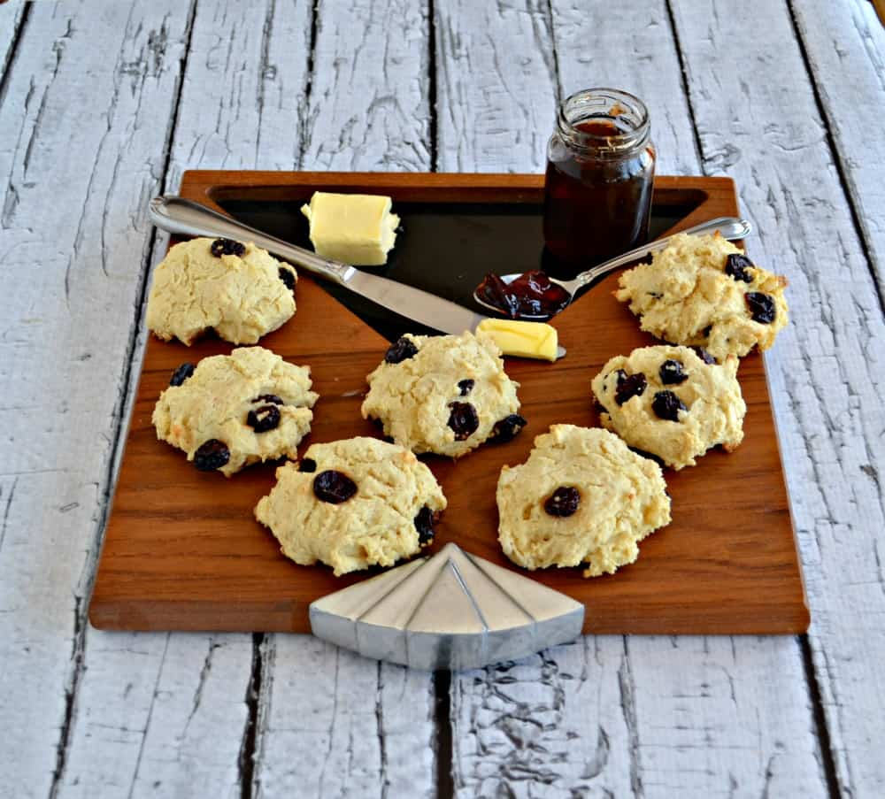 Fresh Cherry Scones with butter or jam