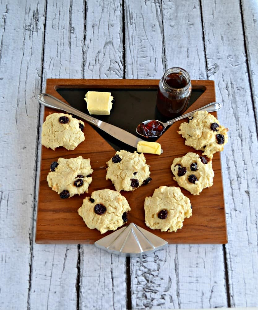 Cherry Scones are the perfect snack when reading a cozy mystery