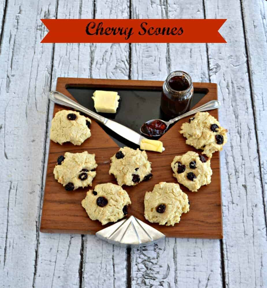 Delicious Cherry Scones are perfect for breakfast or a mid-day snack