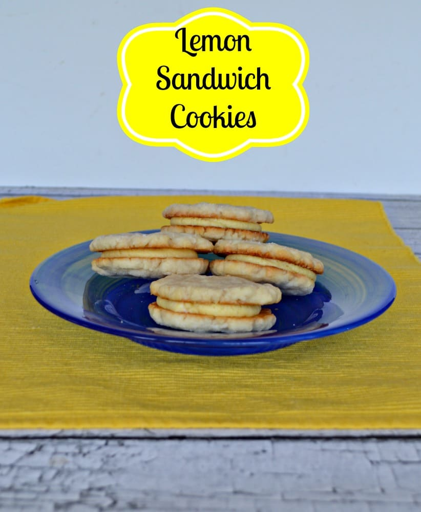 Bright Lemon Flavored Sandwich Cookies