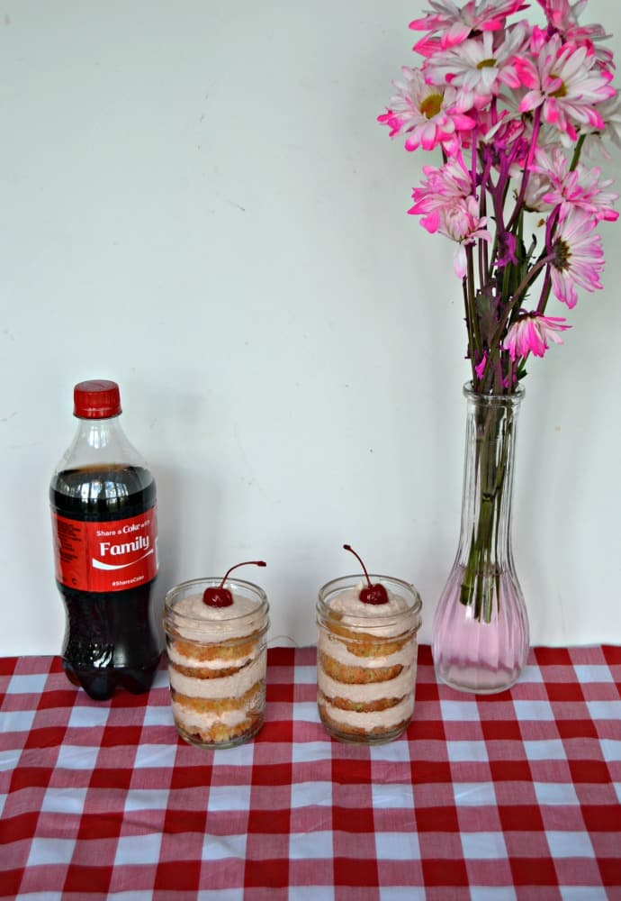 Celebrate Family with Coke Cupcakes in a Jar