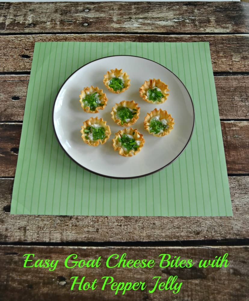 Easy Goat Cheese Bites with Hot Pepper Jelly is a delicious appetizer