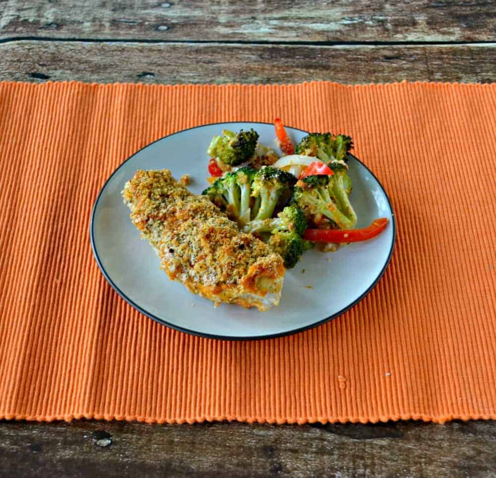 Hummus Crusted Chicken with Broccoli and Peppers for #HummusDay ...