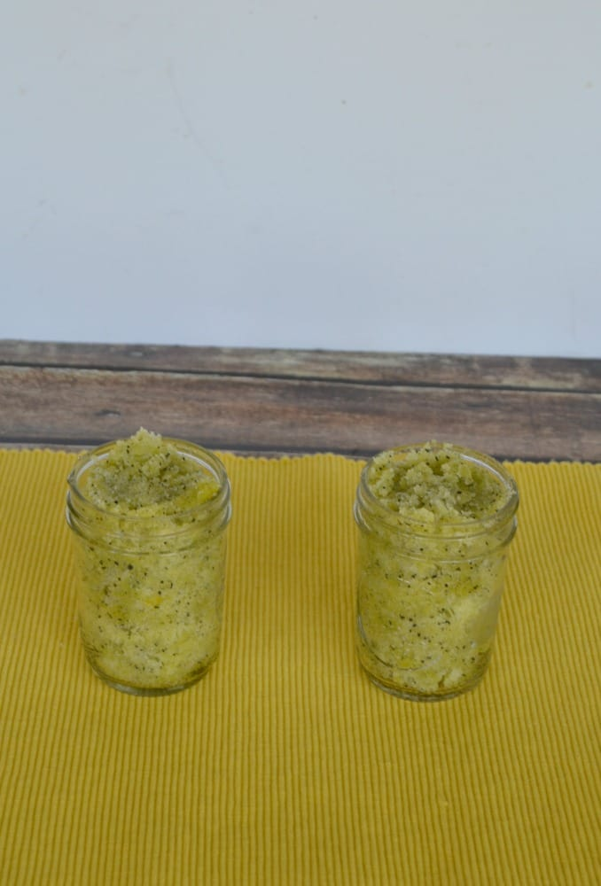 Lemon Mint Tea Sugar Scrub is great for smoothing out dry skin.