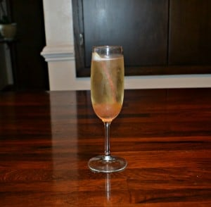 Spiced Rhubarb Champagne Cocktail #SundaySupper