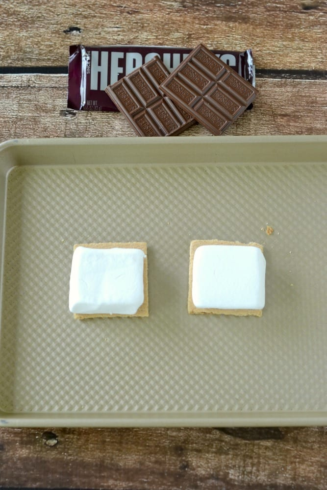 Make Gourmet S'mores indoors with the broiler on your oven.