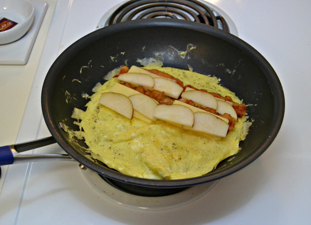 Savory Breakfast Crepes with a tasty omelet inside