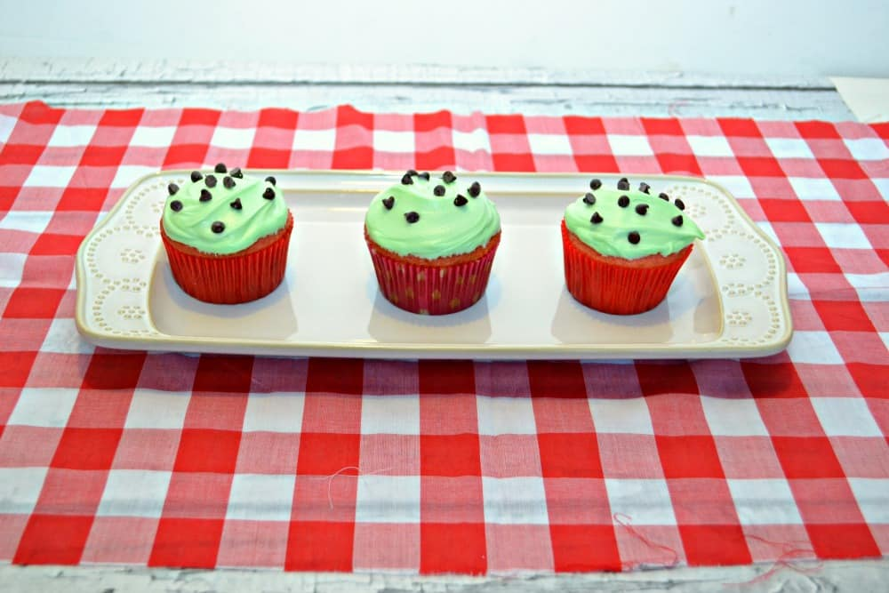 Fun and easy Watermelon Cupcakes