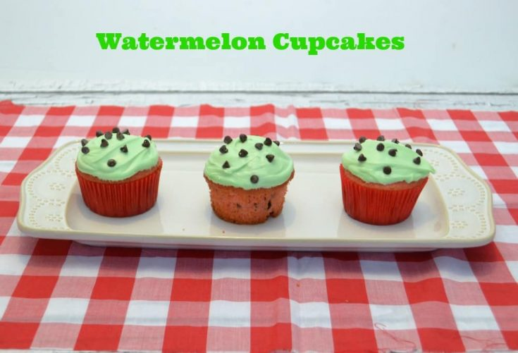 Watermelon Cupcakes are great for picnics or BBQ's