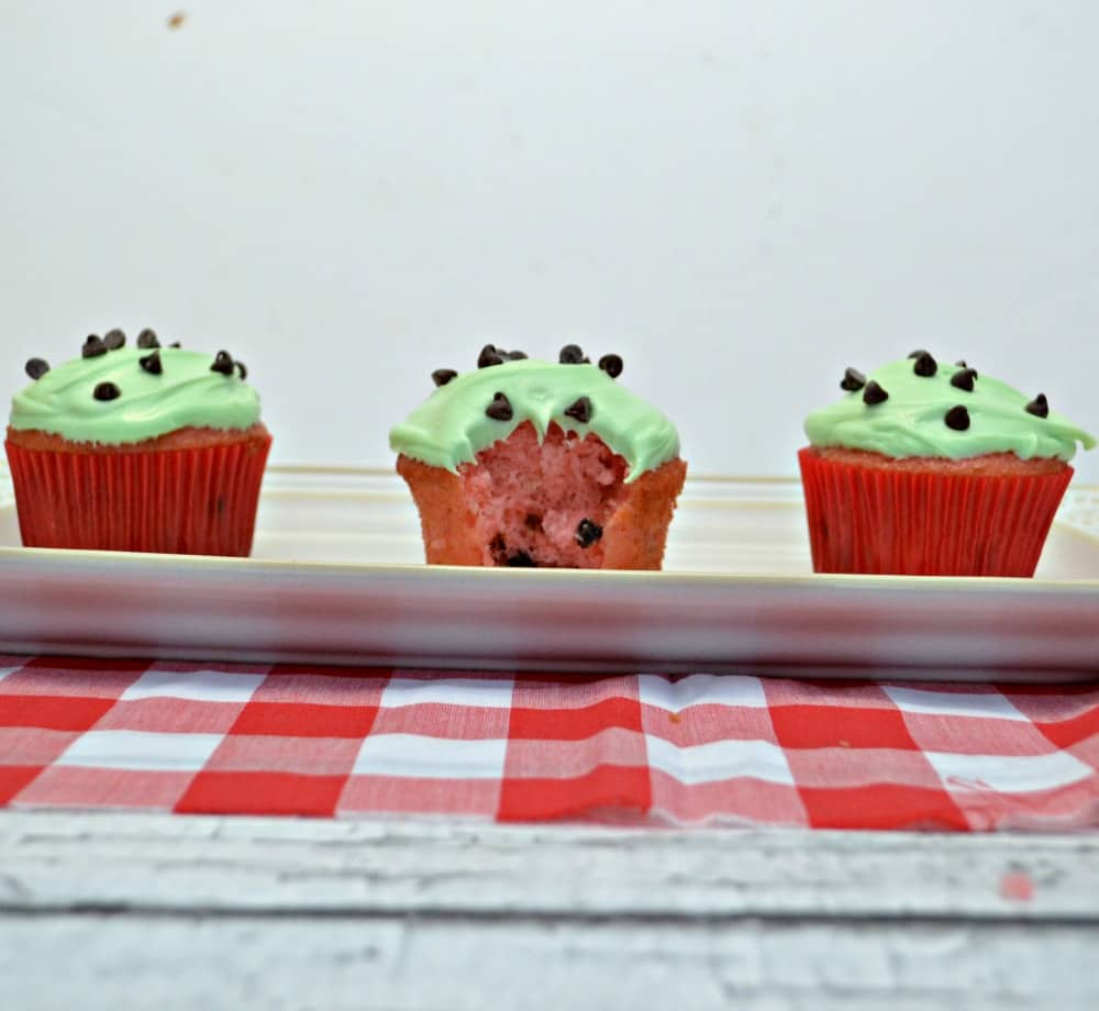 Kids will love these fun Watermelon Cupcakes