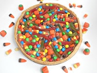 Cookie Candy Pizza is a great way to use up leftover candy!
