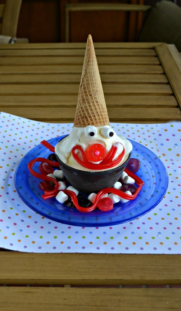 This Clown Sundae is the super fun way to eat Blue Bunny Ice Cream!