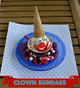 Clown Ice Cream Sundaes