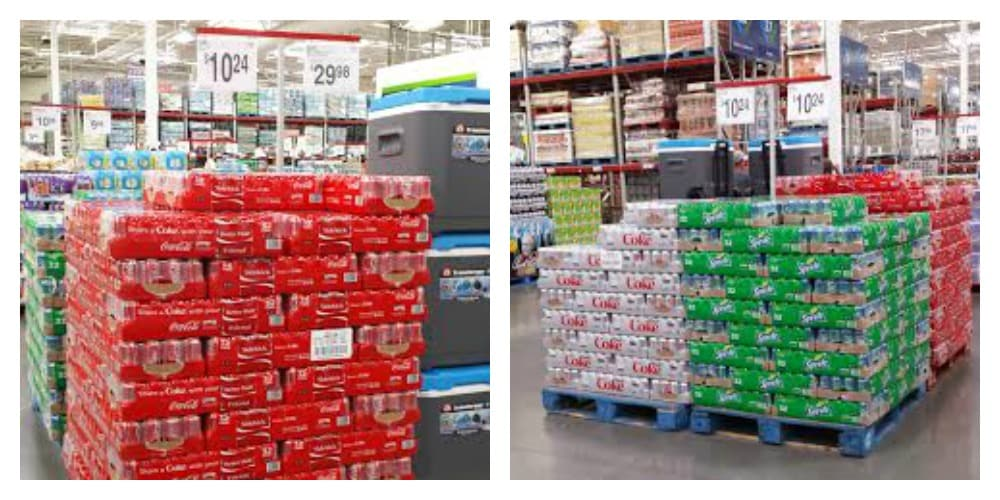 Coke and Diet Coke available at Sam's Club