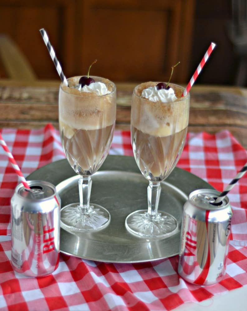Diet Coke Float Cocktails are a delicious way to celebrate the end of the school year!
