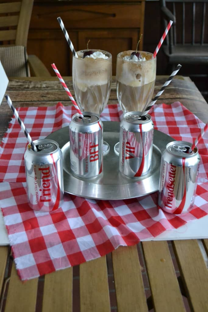 Delicious Diet Coke Float Cocktails are the perfect summer beverage for adults! Try it at your next BBQ!