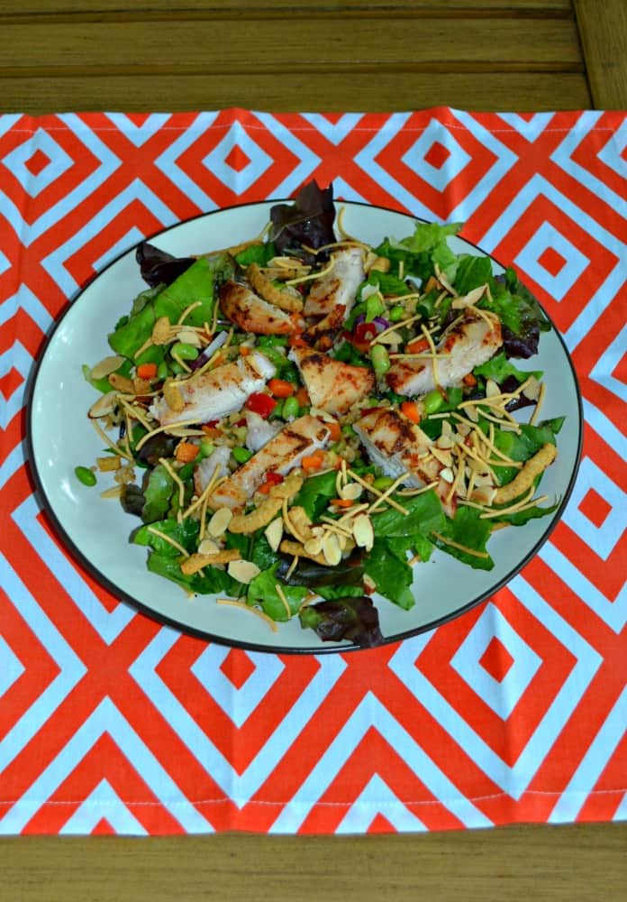 Delicious Asian Grilled Chicken Salad with homemade Soy Sesame Dressing