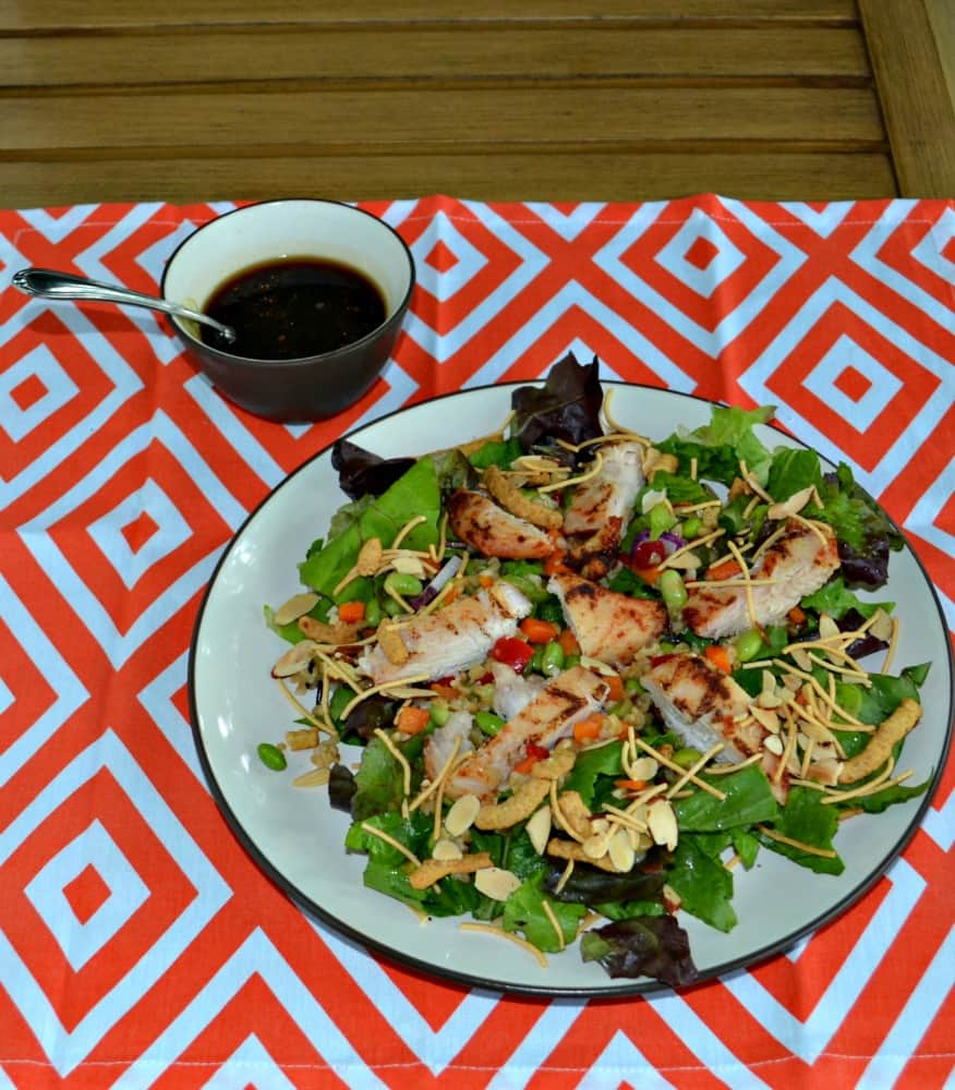 Tasty Asian Grilled Chicken Salad....and no need to turn on the oven!