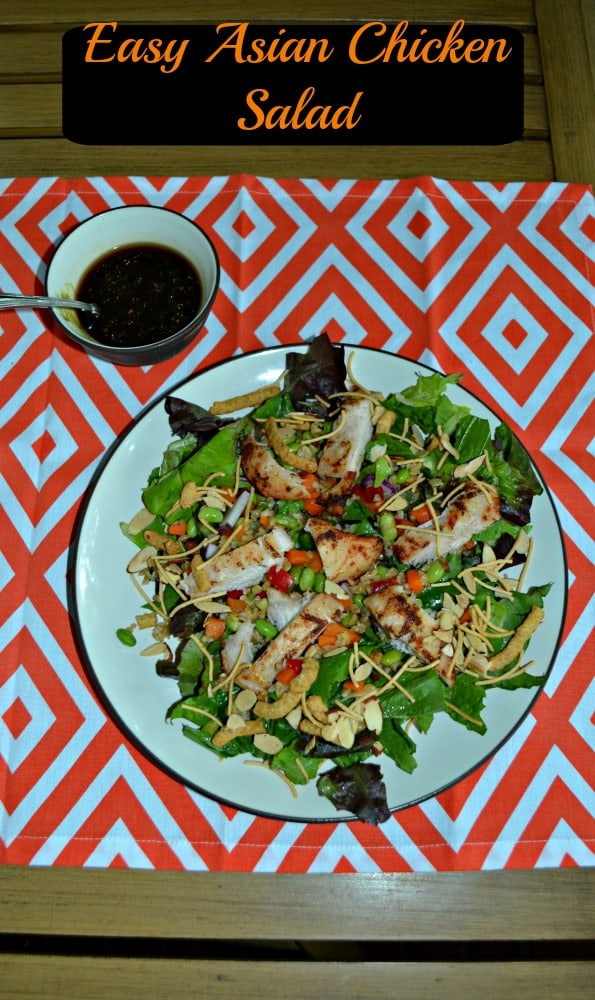 Quick and Easy Asian Grilled Chicken Salads with Sesame Soy Dressing is ready in just 10 miutes!