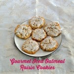 Gourmet Iced Oatmeal Raisin Cookies