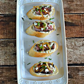 Make this Grilled Steak Crostini with Blue Cheese and Caramelized Onions is a great summer appetizer