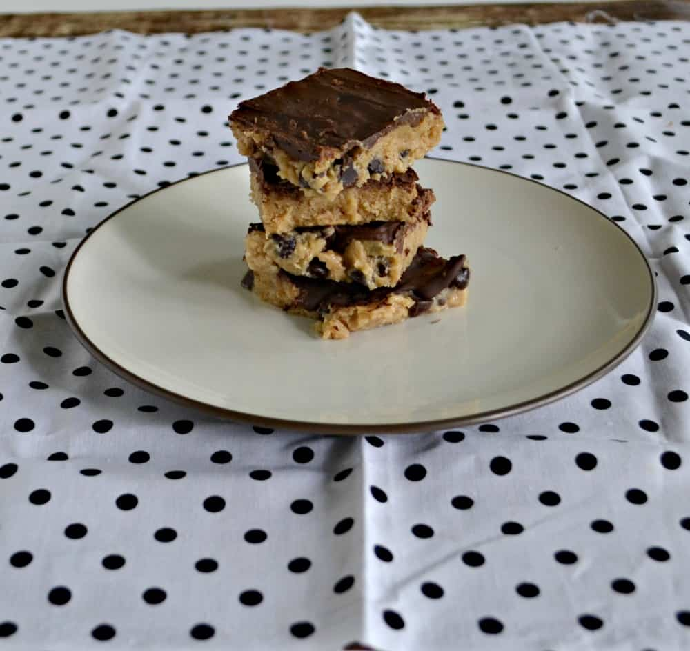 You'll be drooling over these No Bake Chocolate Chip Cookie Dough Bars