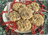 White Chocolate Cranberry Oatmeal Cookies are a delicious treat any time of year.