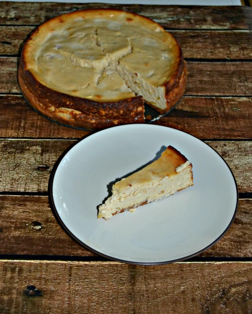 Delicious Butterscotch and Peach cheesecake