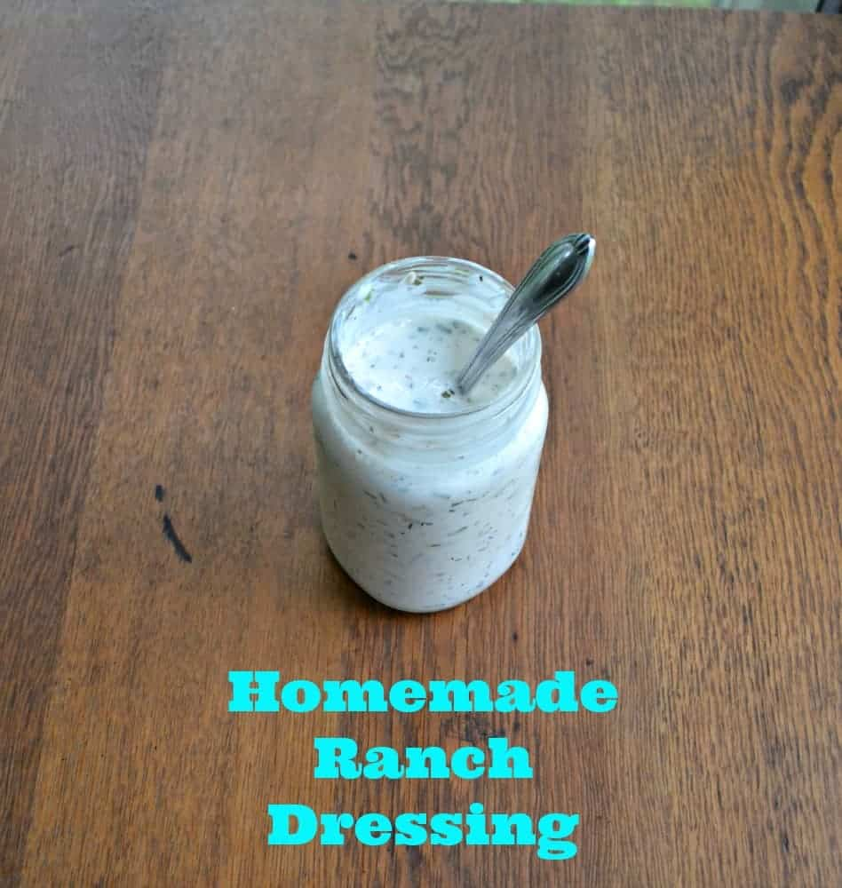 Homemade Ranch Dressing is naturally lowfat and so flavorful with fresh herbs